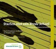 Starten met een Brede School - Steunpunt Diversiteit en Leren