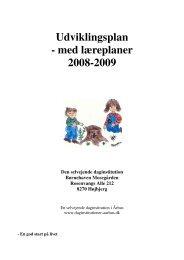 Udviklingsplan - med læreplaner 2008-2009 - Selvejende