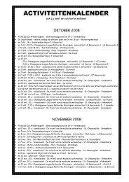 Activiteiten oktober, november en december 2008 - Beauvoorde