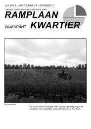 Wijkkrant juli 2013 - Ramplaankwartier Haarlem