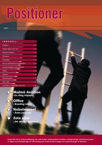 Newsletter 2001 work.indd - PositionEtt AB