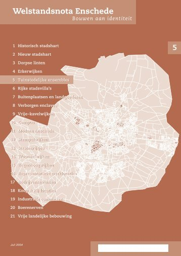Tuinstedelijke ensembles - Gemeente Enschede