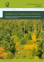 Rapport 'Subsidies voor het gebruik van FSC hout'