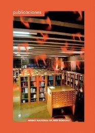 Catálogo de Publicaciones en pdf - Museo Nacional de Arte ...