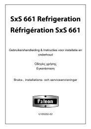 SxS 661 Refrigeration Réfrigération SxS 661 - Falcon Norge
