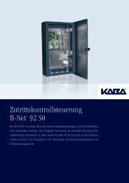 Zutrittskontrollsteuerung B-Net® 92 50 - Bavaria Zeitdienst ...