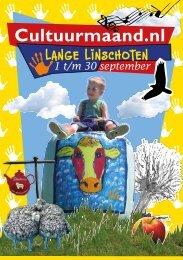 Programmaboekje Cultuurmaand Lange Linschoten - Utrechtse ...