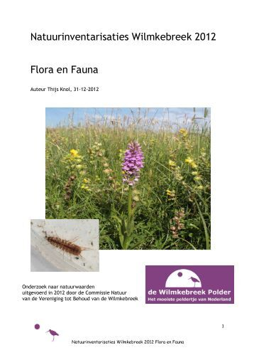 Flora en Fauna - De Wilmkebreek Polder