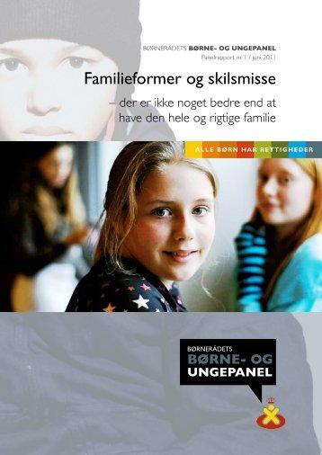 Familieformer og skilsmisse - Børnerådet