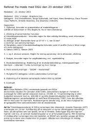 Referat fra møde med DGU den 23 oktober 2003. - SEGAF