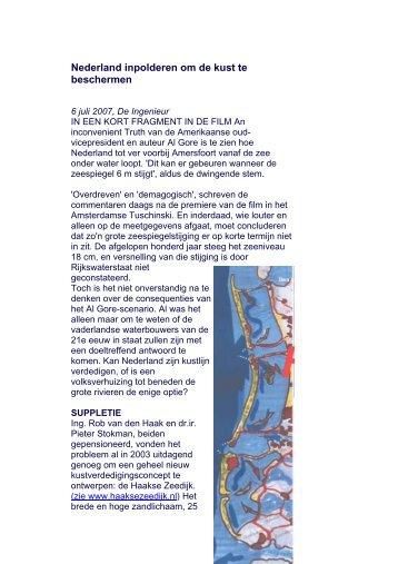 Nederland inpolderen om de kust te beschermen
