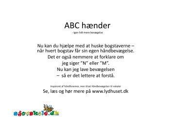 ABC hænder - sjovskole.dk
