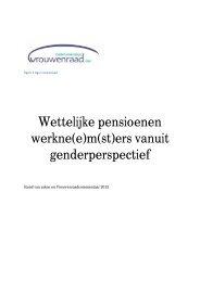 Wettelijke pensioenen werkne(e)m(st)ers vanuit genderperspectief
