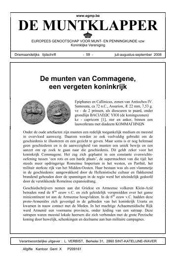 De munten van Commagene, een vergeten koninkrijk - Egmp