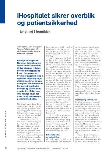 iHospitalet sikrer overblik og patientsikkerhed - Regionshospitalet ...