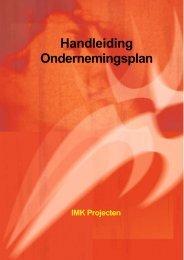 Handleiding Ondernemingsplan - IMK-Projecten