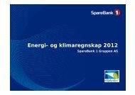 Last ned presentasjon av klimaregnskap 2012 for ... - SpareBank 1