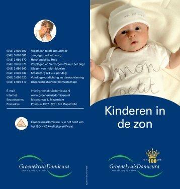 Folder 'Kinderen en de zon'.indd - GroenekruisDomicura