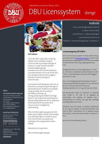 DBU Licenssystem |drenge