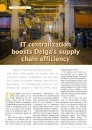 IT centralization boosts Delga's supply chain efficiency IT ... - Sintel