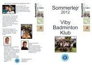 Lejr 1 - Viby Badminton Klub