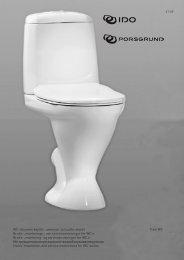 WC-istuimen käyttö-, asennus- ja huolto-ohjeet Trevi WC Bruks ... - Ido