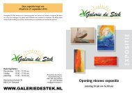 Flyer Zomerexpositie 2013 - Galerie de Stek