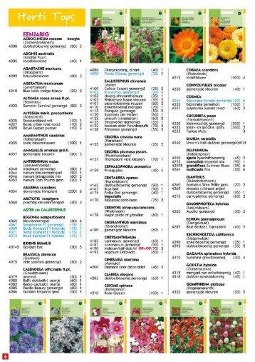 Catalogus bloemenzaad - Plant Goed!