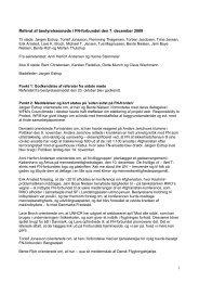 1 Referat af bestyrelsesmøde i FN-forbundet den 7. december 2009