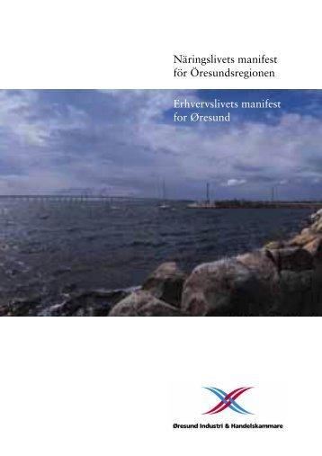 Omslag Manifest - Øresund Industri & Handelskammare