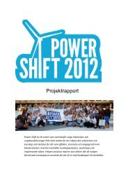rapport - Power Shift Sverige