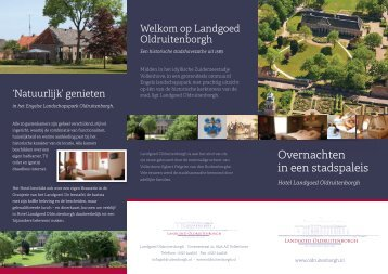 Hotel in Overijssel - Landgoed Oldruitenborgh
