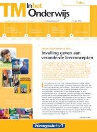 Invulling geven aan veranderde leerconcepten - ThiemeMeulenhoff