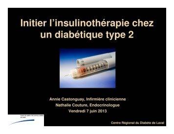 Atelier #1 : Initier l'insulinothérapie chez un diabétique de type 2