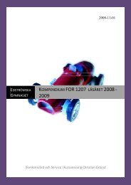Kompendium FOR 1207 läsåret 2008 - 2009