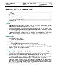 Natiiviröntgenin hyvän kuvan kriteerit - HUS