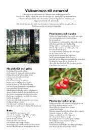 Upptäck naturen på svenska - Skogsstyrelsen