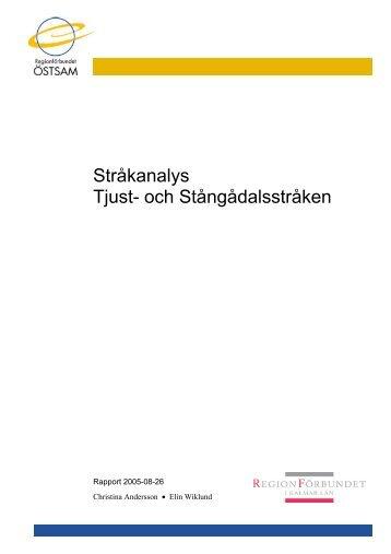Stråkanalys Tjust- och Stångådalsstråken - Regionförbundet Östsam