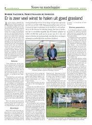 Er is zeer veel winst te halen uit goed grasland - DLF-TRIFOLIUM ...