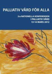 Program 2a Nationella konferensen i palliativ vård 2012