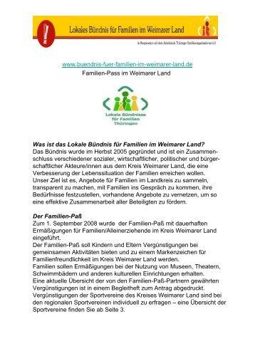 Familienpass Weimarer Land