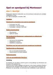 Spel en speelgoed bij Montessori door C. Boerlijst - kelpin.nl