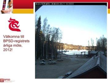 Årligt möte 2012 / Lennart Minthon - Registerhållare BPSD-registret