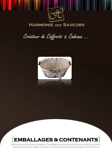 Consultez notre catalogue PDF - Harmonie des Saveurs