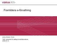 Presentation Lena Jönsson, Verva - E-delegationen