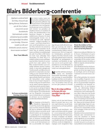 Blairs Bilderberg-conferentie