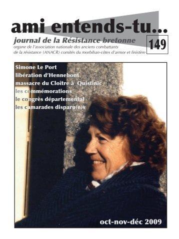 Télécharger le numéro 149 - Les Amis de la Résistance du Morbihan