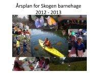 Årsplan for Skogen barnehage 2012 - 2013