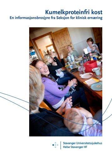 Kumelkproteinfri kost - for barn som ikke tåler ... - Helse Stavanger