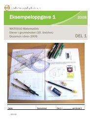 MAT0010 Matematikk Eksempel I EksV09 Del 1 BM - Matematikk.net